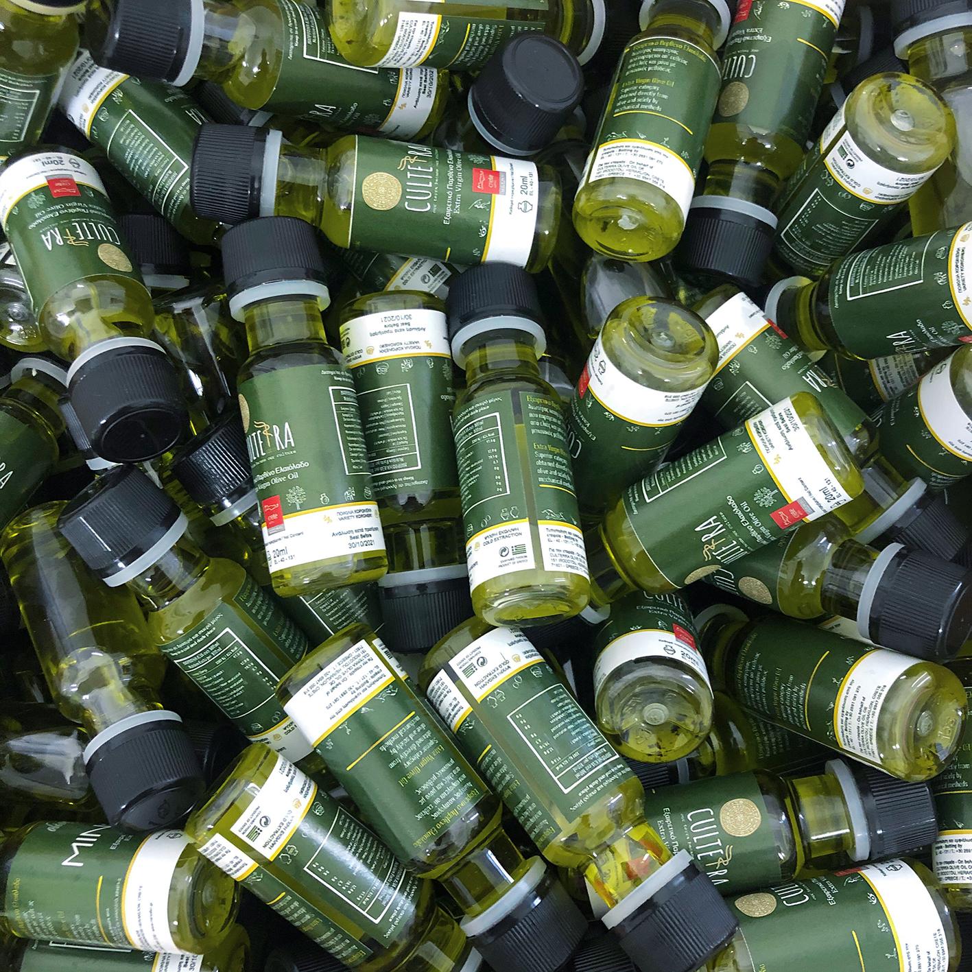 Bouteille d'huile d'olive individuelle